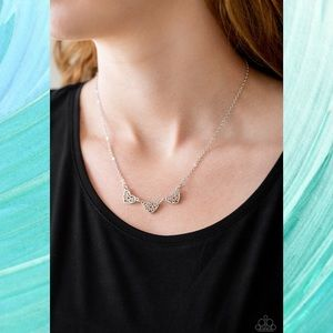 Another Love Story Dainty Silver Necklace Set